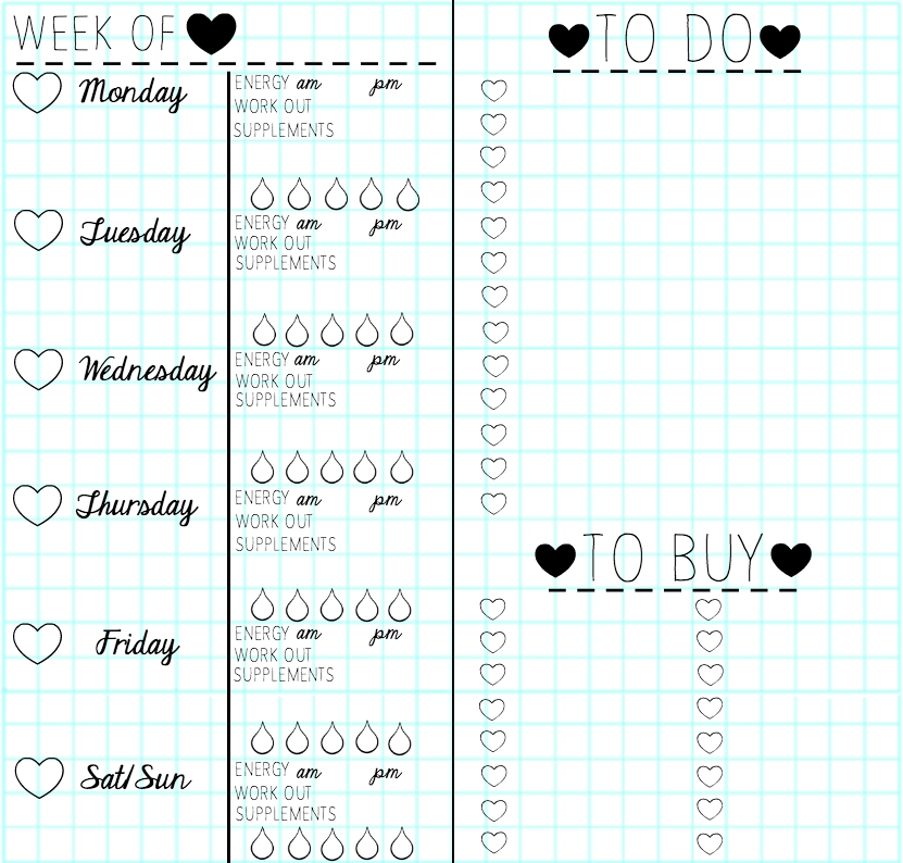 Diy weekly planner template solutioingenieria Gallery
