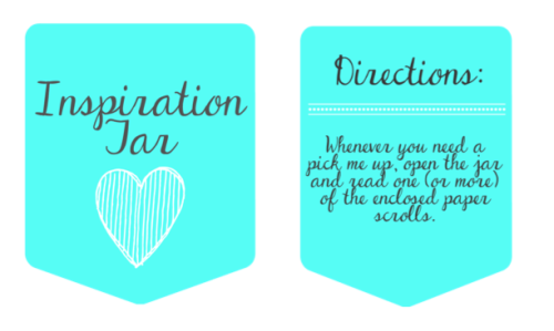 Inspiration Jar Printable